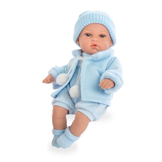 Arias Dolls Elegance 33 cm Natal Blue Beanie - 60208