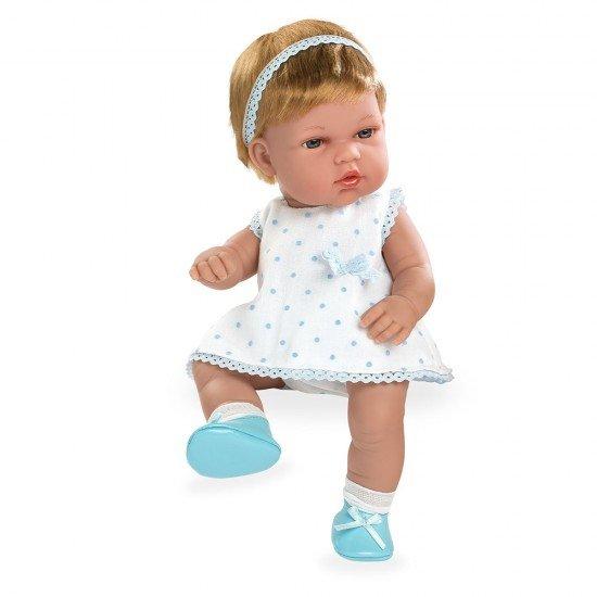 Bonecas Arias Elegance 33 cm Natal Azul Vestido Branco - 60230
