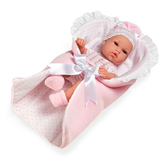 Bonecas Arias Elegance 33 cm Natal com Manta Rosa - 60149