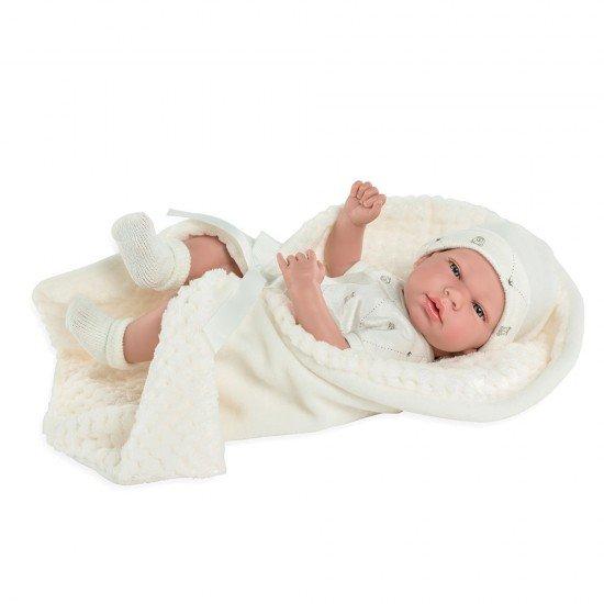 Arias Dolls Elegance 38 cm Beige Andie with Blanket - 60237