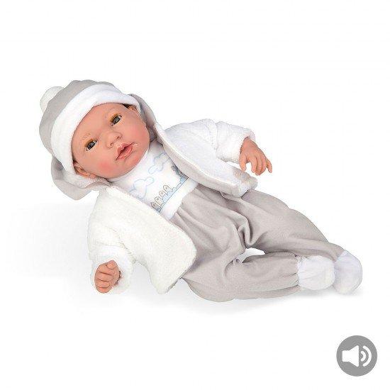 Arias Dolls Elegance 38 cm Grey Andie Shirt and Pants +  Sound - 60261