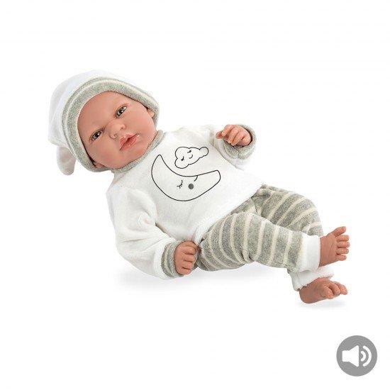 Bonecas Arias Elegance 40 cm Andie Cinza com Som - 60236