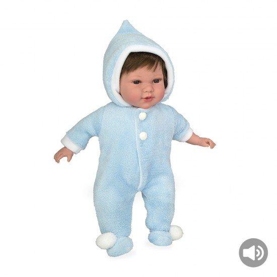 Muñecas Arias Elegance 42 cm Iria Azul Babygrow Polar + Sonido - 65240