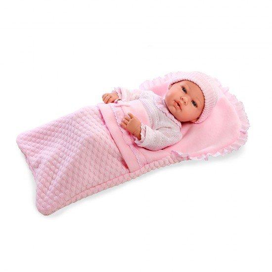Bonecas Arias Elegance 42 cm Real Baby Rosa - 65137