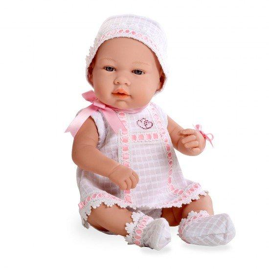 Bonecas Arias Elegance 42 cm Real Baby Rosa Swarovski Elements - 95009