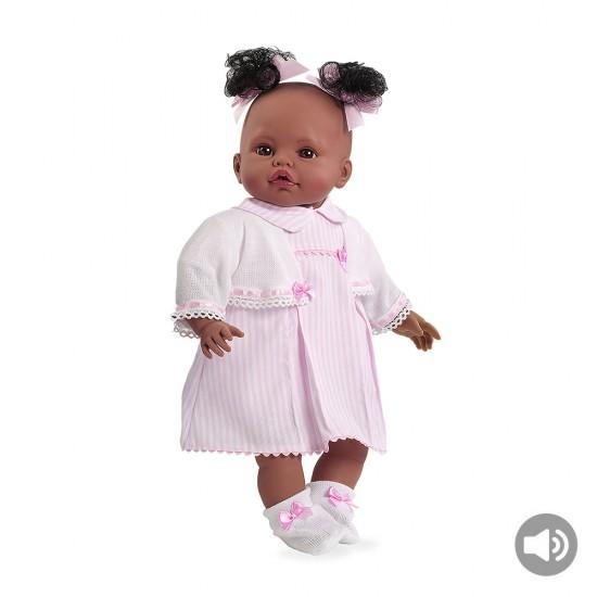 Bonecas Arias Elegance 42 cm Saira Rosa com Som - 65083