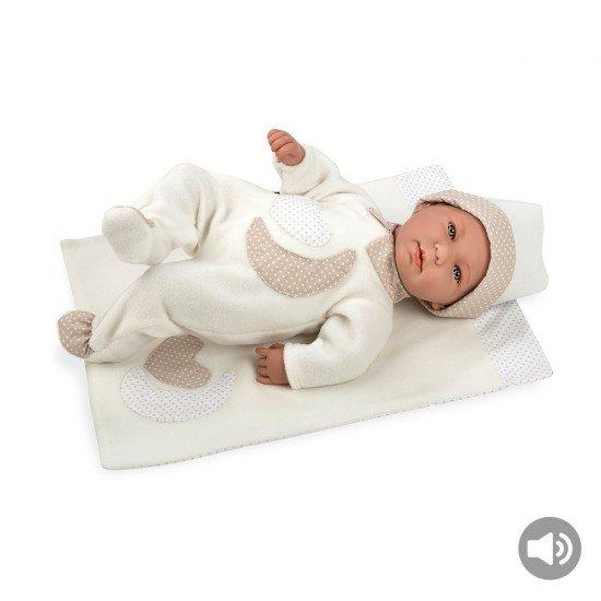 Arias Dolls Elegance 45 cm Lois with Blanket Beige w/ Sound - 65180