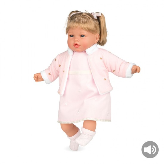 Bonecas Arias Elegance 50 cm Fanny Rosa com Som - 65245