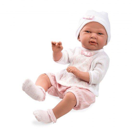 Muñecas Arias Elegance 52 cm Baby Eddie Rosa - 65182