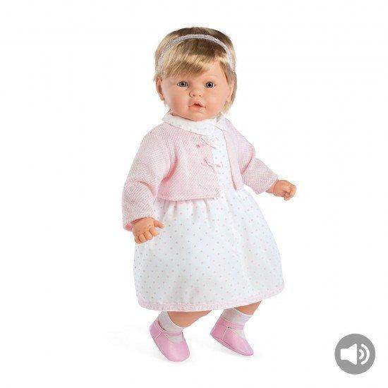 Bonecas Arias Elegance 62 cm Leonor Rosa com Som - 65227