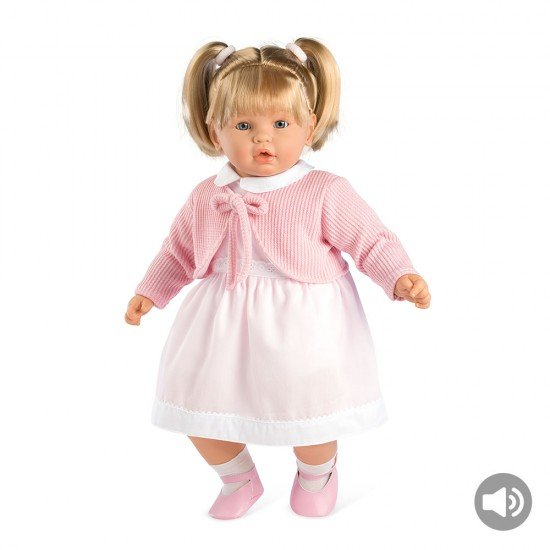 Arias Dolls Elegance 62 cm Pink Leonor with Sound and Pony Tails - 65226