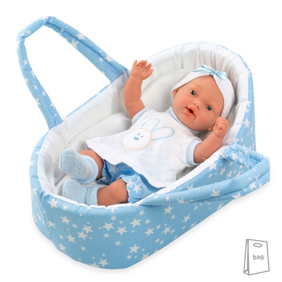 Arias Dolls Elegance PB 26 cm Blue Pillines with Carrycot - 50228