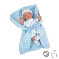 Arias Dolls Elegance PB 28 cm Blue Hanne w/ Blanket and Sound - 50243
