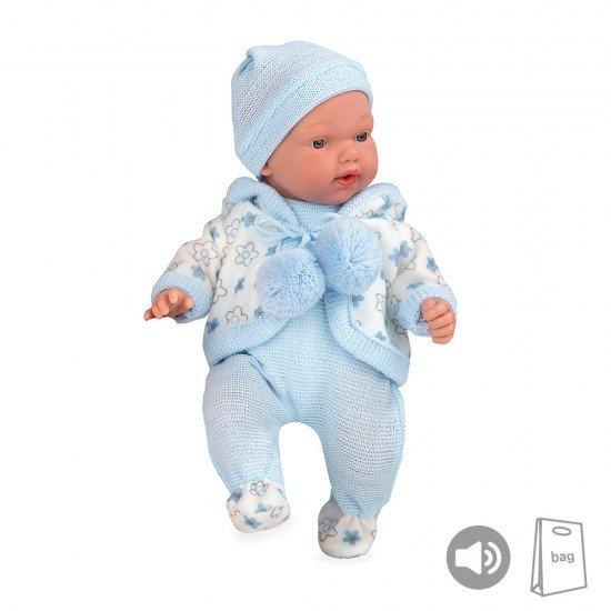 Bonecas Arias Elegance PB 28 cm Hanne Azul com Sons Babygrow - 50247