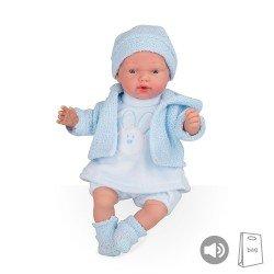 Muñecas Arias Puppen Elegance PB 28 cm Blaue Hanne mit Sounds Beanie - 50245