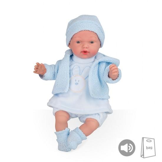 Arias Dolls Elegance PB 28 cm Blue Hanne with Sounds Beanie - 50245