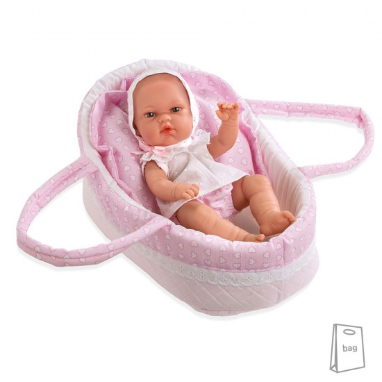 Arias Dolls Elegance PB 33 cm Natal Pink with Carrycot - 50220