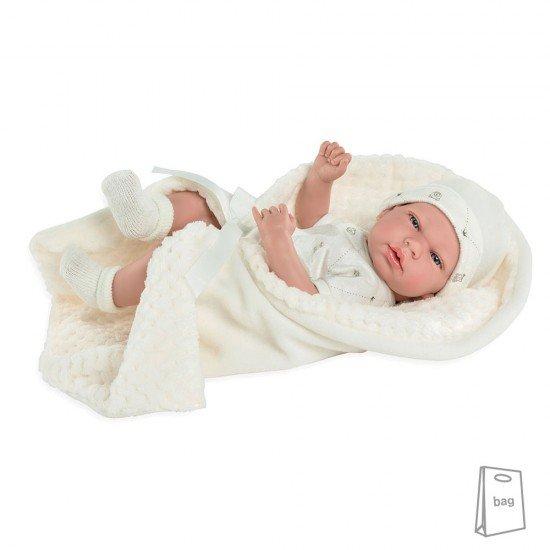 Arias Dolls Elegance PB 38 cm Beige Andie with Blanket - 50237