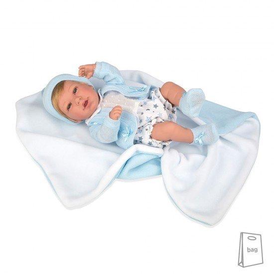 Arias Dolls Elegance PB 42 cm Blue Iria w/ Blanket - 55248