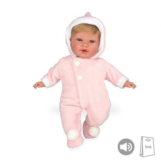 Arias Dolls Elegance PB 42 cm Pink Iria Polar Babygrow + Sound - 55240