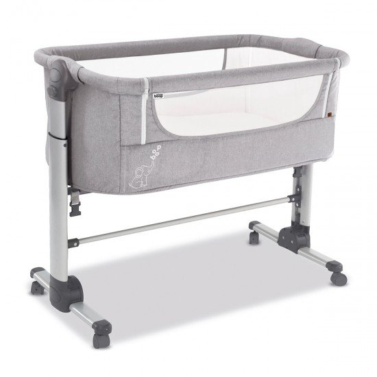 Asalvo Folding Mini Cot Grey