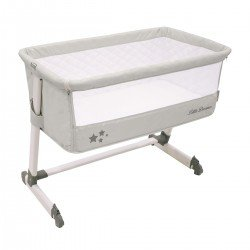 Asalvo Bed Side Crib Light Grey