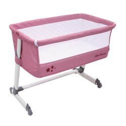 Asalvo Bed Side Crib Light Pink