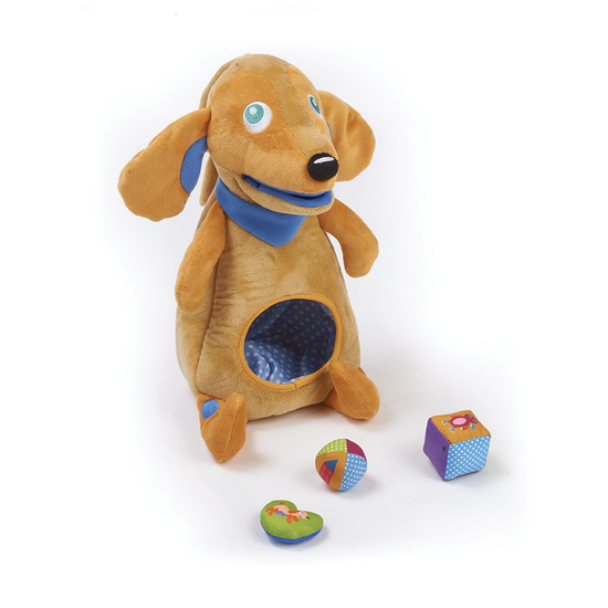 Oops Activity Soft Toy with Blocks Dog