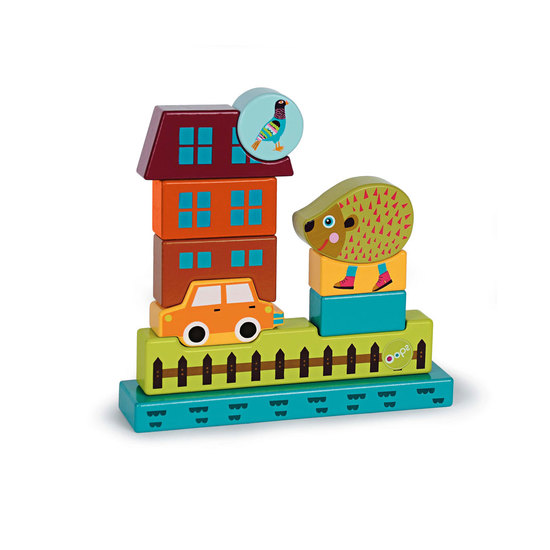 Oops Wooden Magnetic Puzzle 8/11 pcs Hedgehog