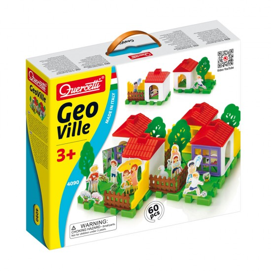 Quercetti Jogo Geo Vila Tecno Puzzle 60 peças