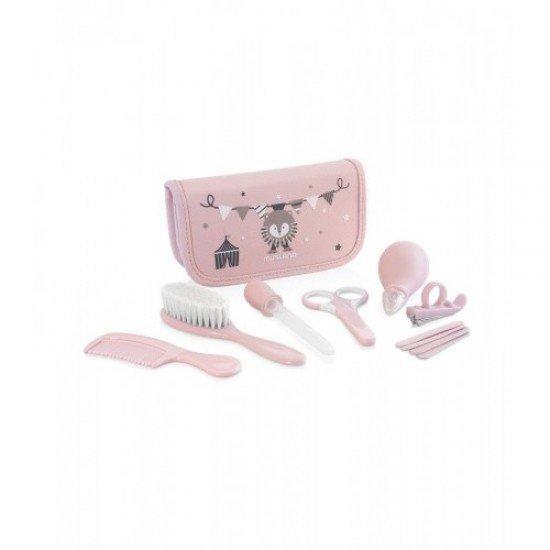 Estojo Cuidados Bebe Baby Kit Miniland Rosa - 89125