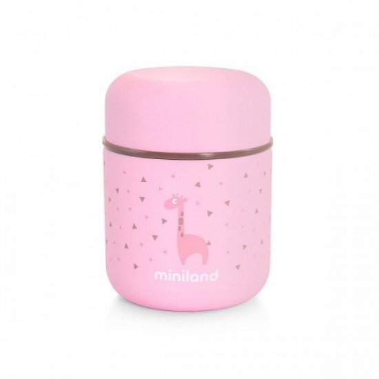 Miniland Thermo solids Silky 280ml Pink -89245