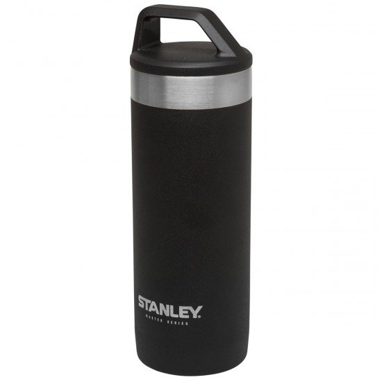 Stanley Master Stainless Steel Vacuum Insulated Travel Mug, Foundry Black, 7.6 x 7.6 x 23.1 cm